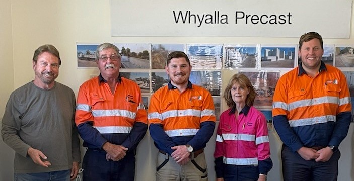 Whyalla concrete company employs ten additional staff and engages local contractors to fulfill road upgrade contract